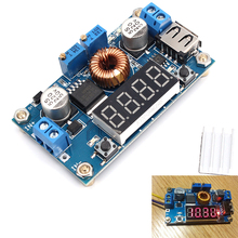 DC DC 5A LED Drive Lithium Battery Charger Module with Voltmeter Ammeter LED Digit Display
