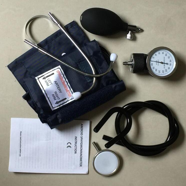 ФАКТОРИЧНА ПРЯНА ПРОДАЖБА Анероиден сфигмоманометър за измерване на кръвно налягане Устройство Комплект маншет Стетоскоп 50set / много безплатен DHL