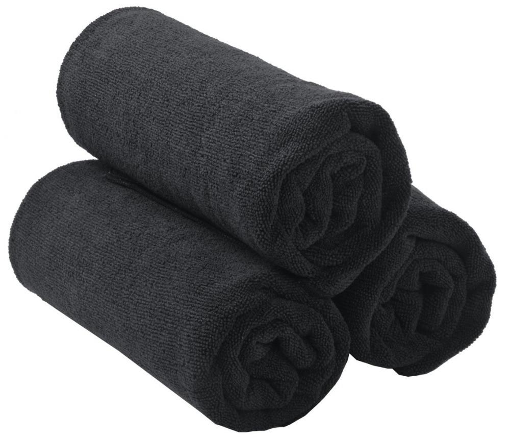 Sinland Salon Cabelo Secagem Toalhas de Microfibra Toalhas de Mão Toalhas de Ginástica Ultra Grosso para Hotéis Spa Banho Casa 20 Polegada x33 polegada 3 Pacote