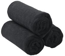 Sinland Microfiber Salon Hair Drying Towels Hand Gym Ultra Thick for Spa Hotels Home Bath 20Inch x33Inch 3 Pack