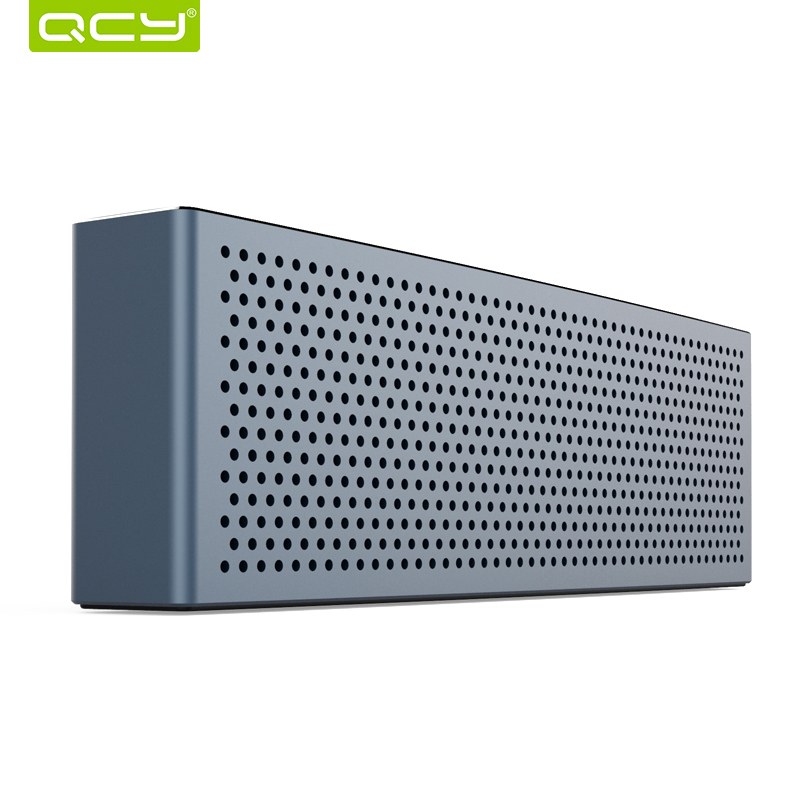 QCY metal M5 mini speaker bluetooth V4.1 wireless portable 3D stereo sound system MP3 music audio player with 3.5mm AUX TF card