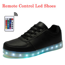 Remote Control Led Shoes Men Luminous Lights Shoes Men Shoes Casual USB Rechargeable Chaussure Homme Sapato Masculino Size 35-46