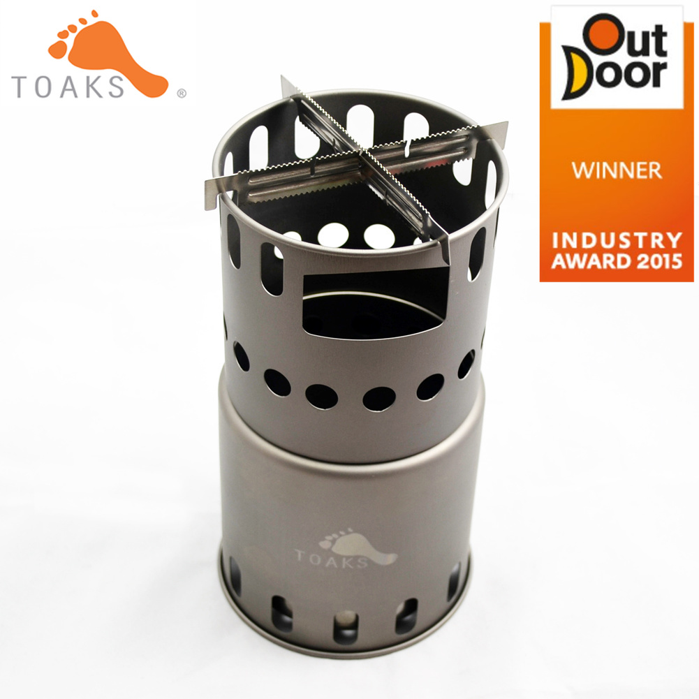 Toaks STV 11 Titanium Wood Gas Outdoor Camping Stove Backpacking Wood Burning Stove with Cross Bars