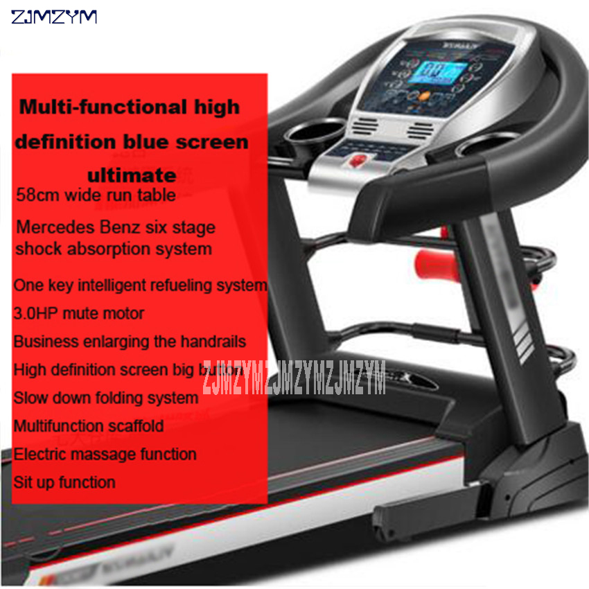 T900 Family Treadmill Folding Multi-Function Mercedes Benz Six Class Damping System Indoor Electric Treadmill Speed 0.8-14km/h