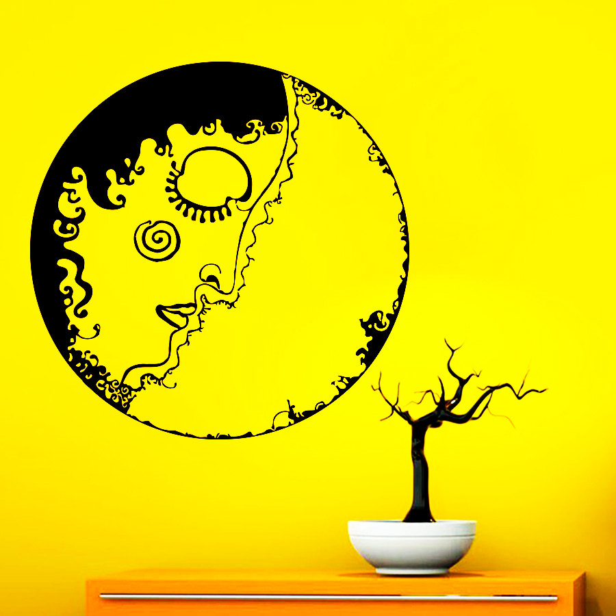 Creative Design Gypsy Woman Circle Wall Decals Carmen Dorm Art Sticker Home Special Decor Bedroom Fashion Decorative Poster Q-24
