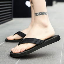 2019 new summer British flip flops mens Korean slippers non-slip beach shoes sandals