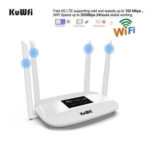 Image 4 - 300Mbps 4G Router Entsperrt 4G LTE CPE Wireless Router Unterstützung SIM Karte 4Pcs Antenne Mit LAN port Unterstützung Bis zu 32 Wifi Benutzer