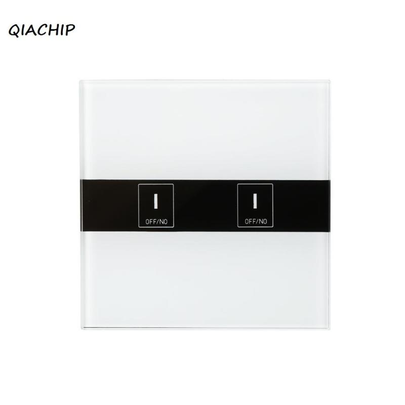 цена на QIACHIP Wifi Smart Touch Switch 2CH wall switch Wireless Timing Switch Remote Control Via APP support Amazon Alexa Google Home