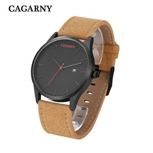 Fashion style watches 2019, luxury brand CAGARNY watches for men and women, Retro quartz watch, male watch for gift