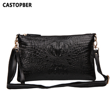 Fashion Women Messenger Bag Handbag Split Leather Cowhide Crocodile Pattern Shoulder Bag Day Clutches Famous Brands