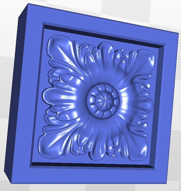 Rosette_68 3d Model Relief  For Cnc  In STL File Format