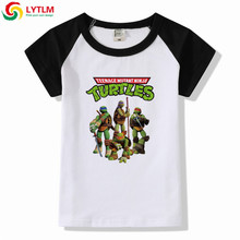 fbf6be4a3 LYTLM Kids Girls Tops Ninja Turtle Print Boys Summer Clothes Girls Shirts  Children Clothing Girl Kids