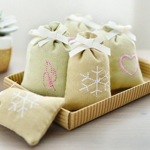 10pcs/Lot Aromatic Portable Closet Perfume Drawer Wardrobe Fragrance  Sachets Bag