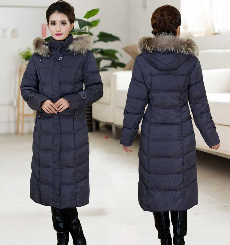 New Arrival Fashion Winter Detachatable Fur Hooded Collar Single-Breasted Warm Over-Long Cotton Jackets Women Coat H6466 free shipping boruoss 2015 new fashion winter cotton coat women short single breasted coat boruoss w1292