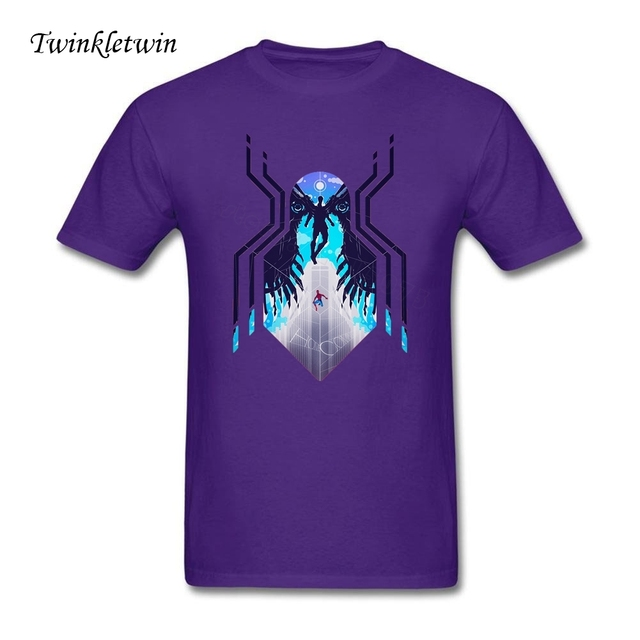 Youth Spiderman Homecoming T Shits Men Summer Cool Design Adult Short  Sleeve Plus Size Men Spiderman T Shirts For Hot Day