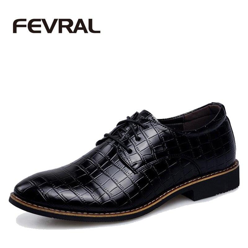 FEVRAL Marca Caliente Suela de Cuero de Moda de Los Zapatos de Vestir de Negocio