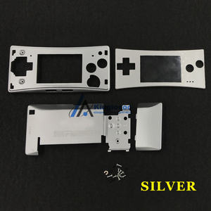 Image 4 - 5 Colors Metal Housing Shell case for Nintendo Gameboy Micro GBM front back Cover Faceplate Battery Holder w/ Screw