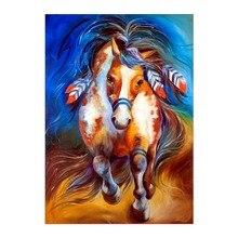 5D DIY diamond painting horse full round cross stitch mosaic crafts decoration