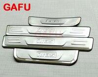For Hyundai IX35 Door Sill Scuff Plate Guards Door Sills Strip Protector Stickers Car Accessories Sticker