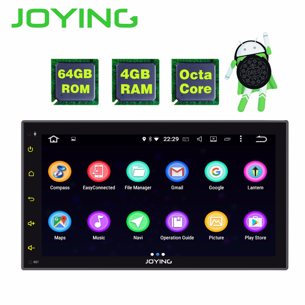 JOYING 2 DIN 8 CORE 4GB RAM Android 8.0 car autoradio 6.95 inch stereo head unit tape recorder support WiFi GPS camera carplay joying 1 din android 8 0 car radio with free dvr camera bluetooth 8 8 px5 octa core recorder head unit system autoradio carplay