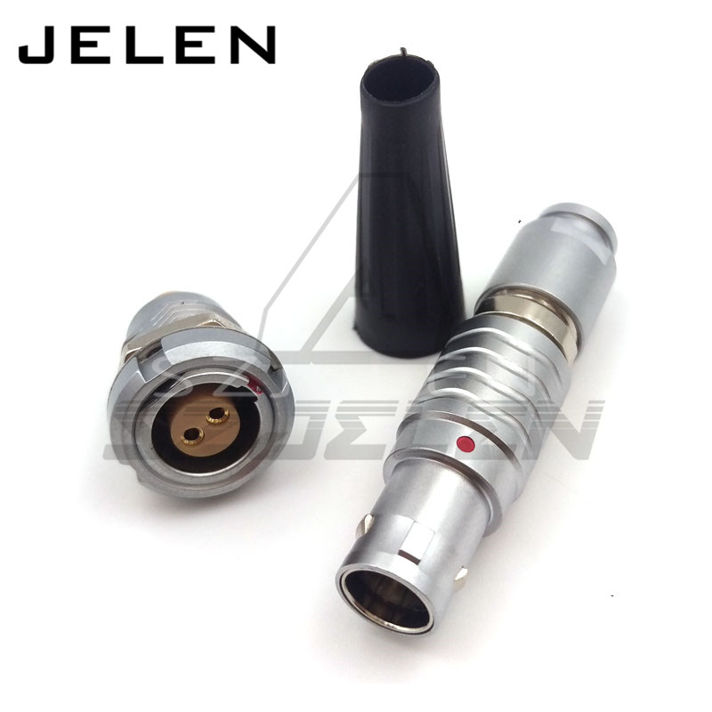 LEMO 2 pin connector,  FGG.1B.302.CLAD**Z ,ECG.1B.302. LEMO 1B 2pin Plug socket ,After the nut panel mount connector male and fe lemo 1b 6 pin connector fgg 1b 306 clad egg 1b 306 cll signal transmission connector microwave connectors