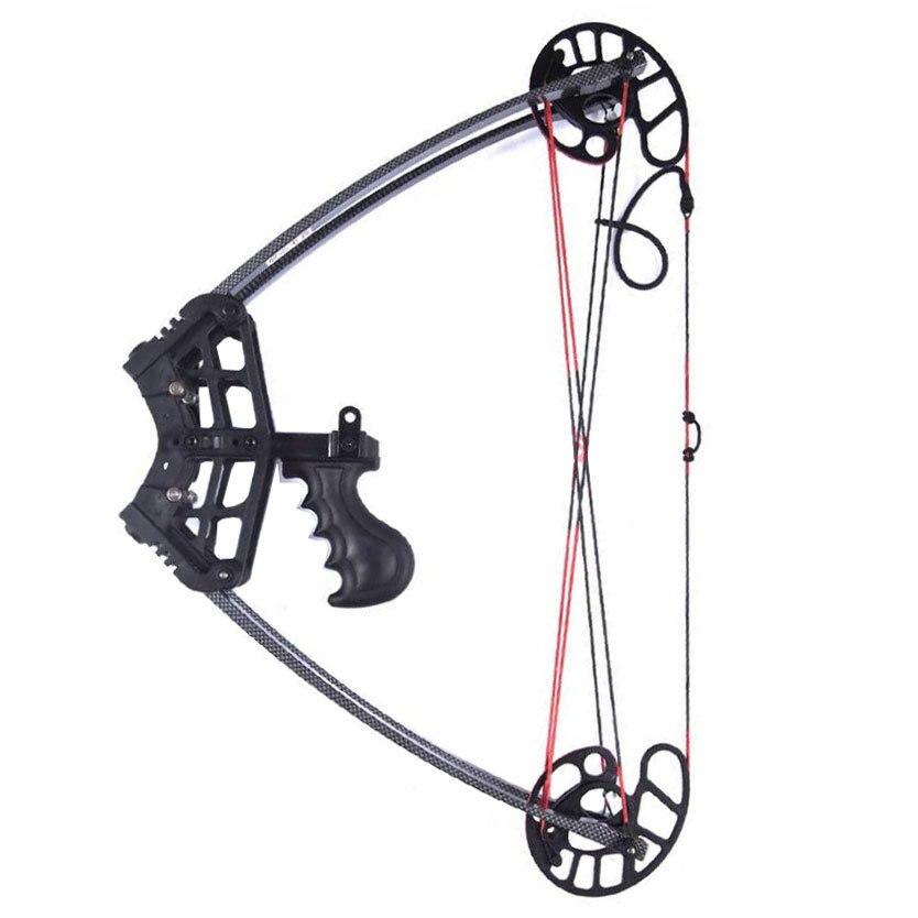 Arc et flèche composites triangulaires extérieurs noir arc nu tir à l'arc tir à l'arc chasse 50 livres
