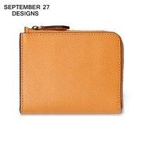 Men S Wallet Genuine Leather Retro Multifunctional Purse Vintage Zipper Male Purse Card Holder Coin Purse