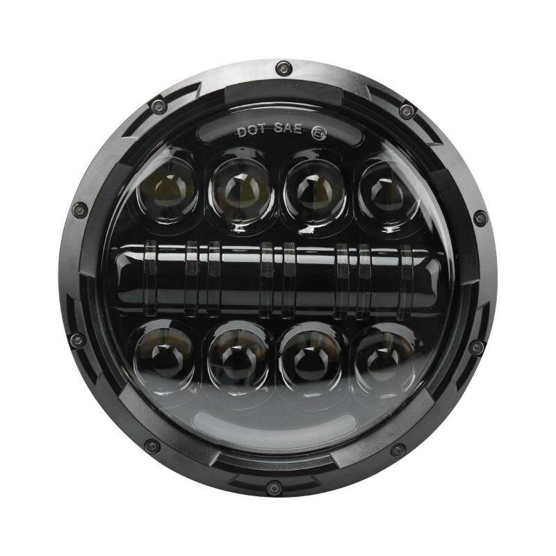 Phare LED moto 40 W 7 pouces avec clignotant ambre DRL pour Jeep Wrangler 97-07 Harley Davidson