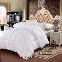 Garniture de couette d'hiver en duvet d'oie blanche garder au chaud dans le sommeil