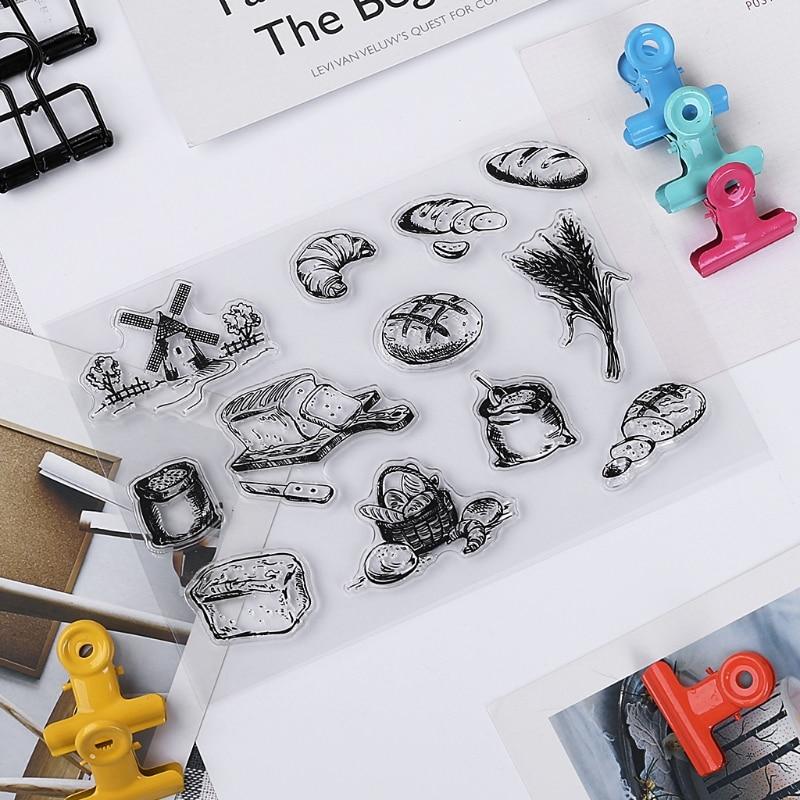 Bread Transparent Clear Silicone Stamp For DIY Scrapbooking Photo Album Decor