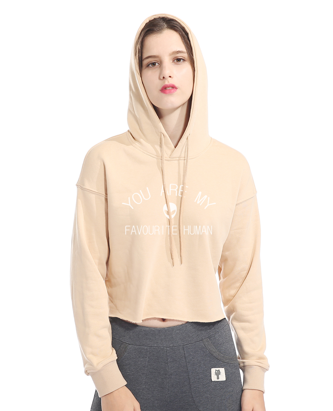 Casual Hoodie Print YOU ARE MY FAVOURITE HUMAN Letter Cotton Sweatshirt For Women 2018 Cotton Hoodies Fashion Fitness Kpop Hoody