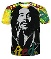 character Bob Marley/tupac/biggie 3d t-shirt funny print men women t shirt harajuku fashion tops tees hip hop clothes