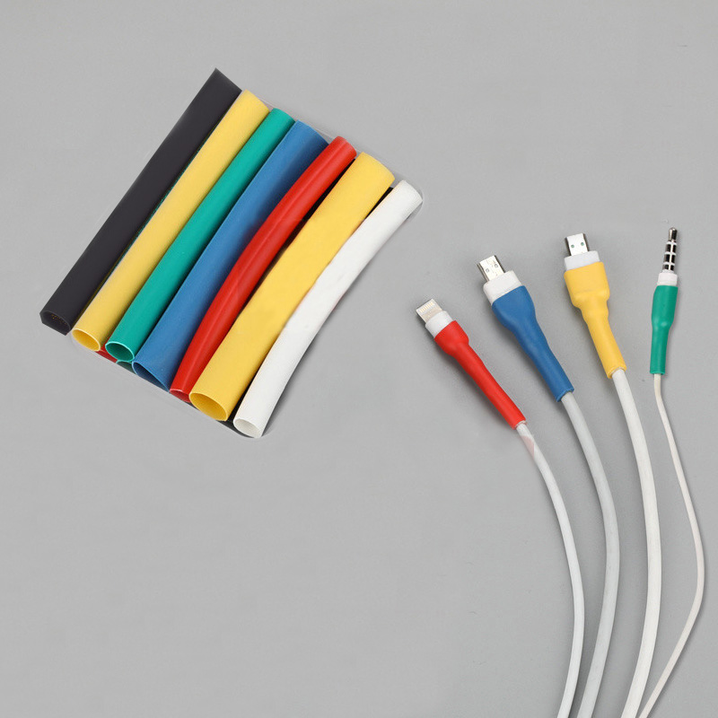 10cm Cable Protector Heat Shrink Tube Organizer Cord Management Cover For Android iPhone <font><b>5</b></font> 5s <font><b>6</b></font> 6s 7 7p 8 8p xs Earphone MP3 <font><b>USB</b></font> image