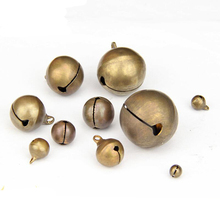 100Pcs Copper Retro Bells for Home Wedding Party DIY Handmade Jewelry Campanula Accessories Christmas Tree Ornaments