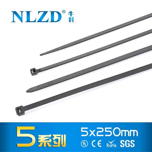 Fasten Wire Zip Tie 4x250mm 10inch 250Pcs/pack 8kgs Nylon Cable Ties ...