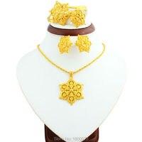 2016 Big Size Ethiopian Jewelry Sets 22K Gold Plated African Nigeria Sudan Kenya Habesha Wedding Jewelry