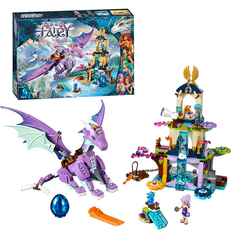 Bela 10549 Elves Set 591pcs The Dragon Sanctuary Building Blocks Toys Compatible <font><b>LegoINGlys</b></font> Friends <font><b>41178</b></font> Gift for girls image
