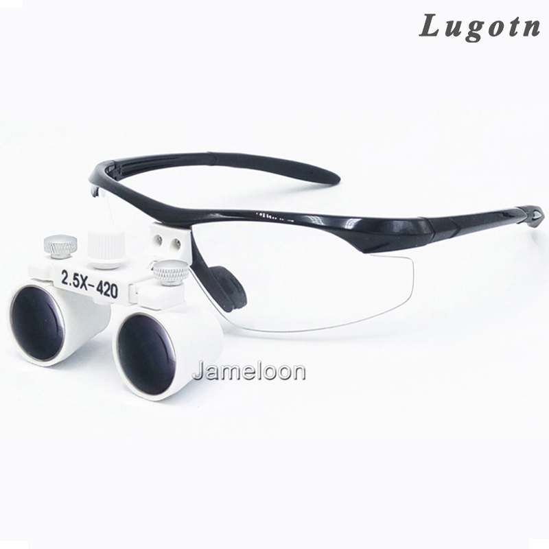 2.5X factory price adjustable eye distance surgical magnify teeth magnifier enlarge glasses dental loupe 3led magnifier for dental surgical and watch repairing and reading magnifier with lighted adjustable helmet head mounted magnify