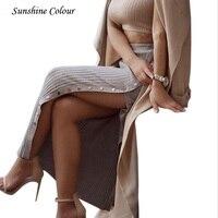 c6e129023 Casual Irregular alta cintura falda de mezclilla lavado ligero mujeres  rasgado Mini Falda mujer mini saia 2019 verano