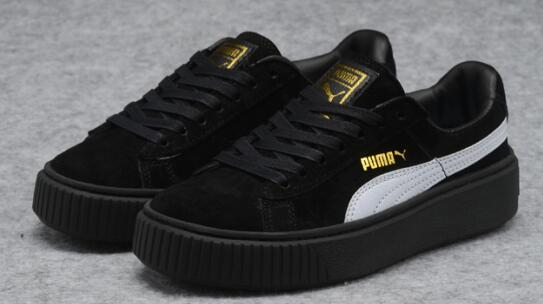 US $63.64  New Arrival PUMA rihanna Suede Platform creeper Men's shoes Breathable Sneakers Badminton Shoes in Badminton Shoes from Sports &