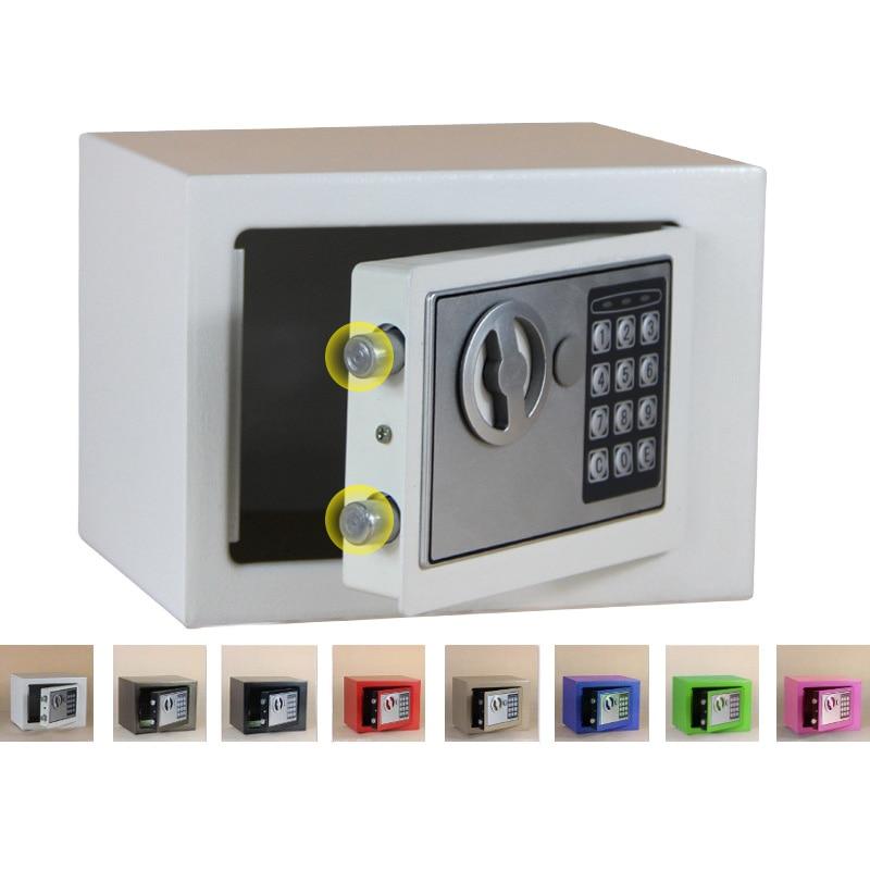 Caja de Seguridad Digital, caja pequeña de seguridad para el hogar, caja de seguridad para dinero, caja de seguridad para guardar joyas en efectivo o documentos con llave - 6