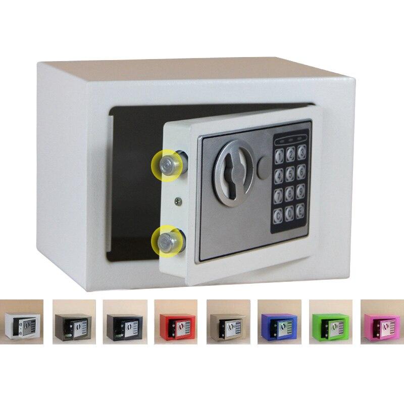 Coffre-fort numérique petit ménage Mini coffres-forts en acier tirelire coffre-fort de sécurité garder les bijoux en argent ou le Document en toute sécurité avec la clé - 6