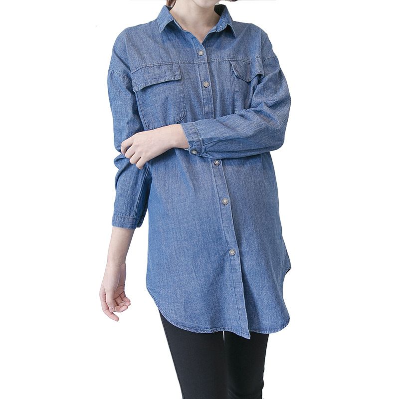 Pregnant Women Denim Dress Loose Shirts Maternity Dresses Tops Pregnant Clothes For Pregnant Women Denim Top H128 maternity clothes new stely fashion loose pure color cloak jacket clothes for pregnant women coat