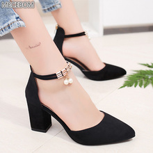 цены Women Pumps Black High Heels Pointed Toe Ladies Shoes Wedges Wedding Party Pumps Women Casual Dress Extreme Valentine Shoes A2W