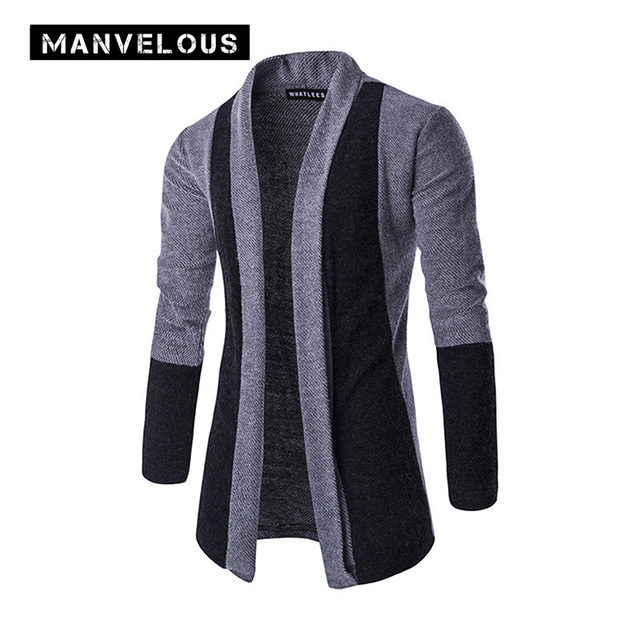 Manvelous Cardigan Sweater Men Autumn Casual Slim Plain Cotton ...