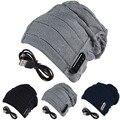 Envío Gratis Negro Gris Navy Warm Beanie Hat Cap Auricular Bluetooth Inalámbrico Inteligente Micrófono Altavoz Para Smartphone