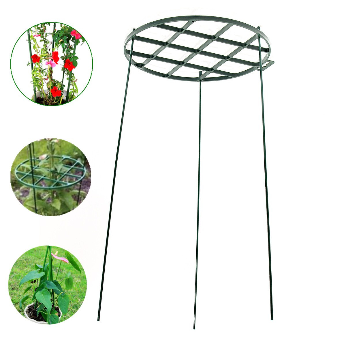 Plastic Round Grow Through Climbing Plant Support Plate Stand For Peonies Lupin Green Garden Courtyard Ornaments Accessories
