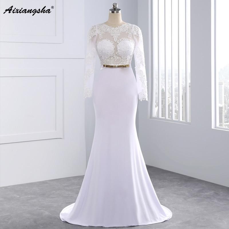 2015 New Elegant Full Long Sleeves Mermaid Wedding Dresses: Aliexpress.com : Buy 2016 Elegant Sexy Wedding Dresses