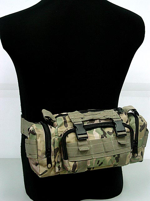 Tactical Woodland Camo SWAT Molle Utility font b Hunting b font Waist Pouch Bag Pack Shoulder