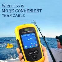 Marca Lucky Fish Finder ecosonda portátil 120 m alarma inalámbrica 40 m/130ft sonar profundidad Ocean River carpa pesca ffcw1108-1